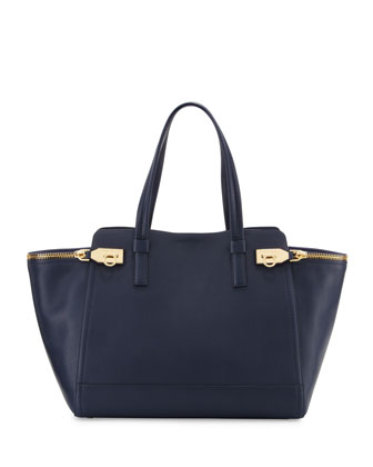 Verve Light Zip-Side Large Tote Bag, Oxford Blue