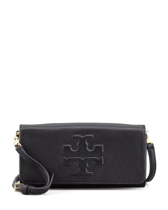 Thea East/West Clutch Bag, Black