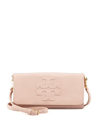 Thea Fold-Over Crossbody Bag, Porcelain Pink