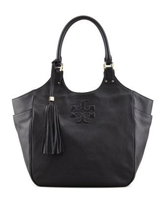 Thea Round Tote Bag, Black