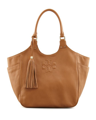 Thea Round Tote Bag, Royal Tan