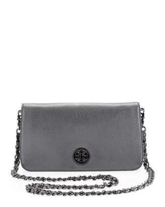 Adalyn Metallic Clutch Bag, Gunmetal