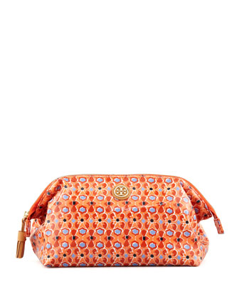 Frame-Top Cosmetic Case, Tiger Lily Mosaic
