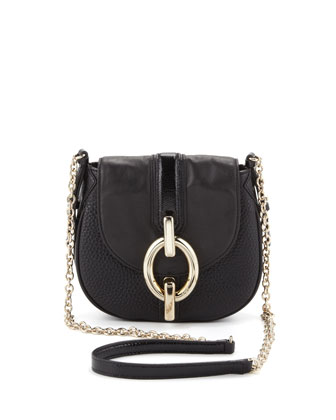 Sutra Mini Leather Crossbody Bag, Black