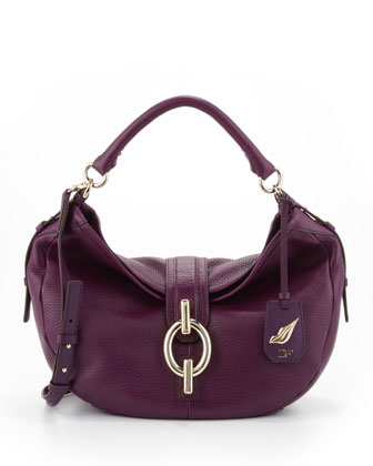 Sutra Pebbled Hobo Bag, Viola