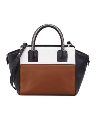 Logan Small Colorblock Tote Bag, Luggage