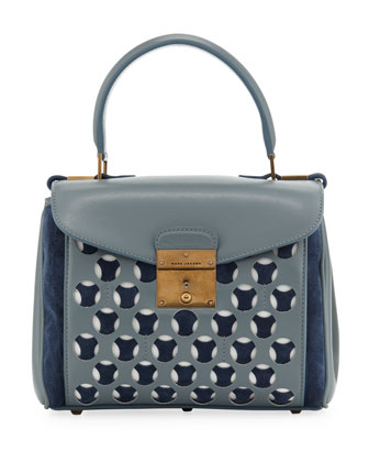 Mini Metropolitan Satchel, Cloud/Atlantic