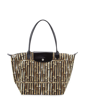 Le Pliage Large Bamboo Shoulder Tote Bag