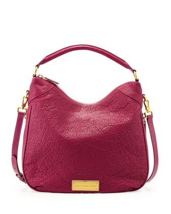 Washed Up Billy Hobo Bag, Fuchsia
