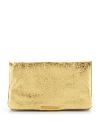 Raveheart Metallic Clutch Bag, Gold