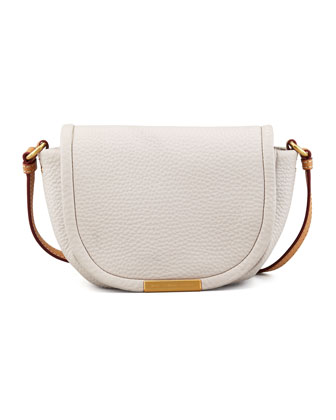 Softy Saddle Crossbody Bag, Cream