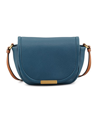Softy Saddle Crossbody Bag, Blue
