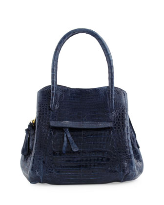 Dual-Compartment Tote Bag, Navy