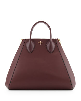 Yves Alsace Medium Tote Bag, Aubergine