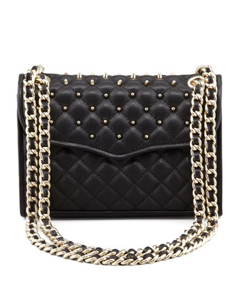 Quilted Affair Studded Mini Shoulder Bag, Black