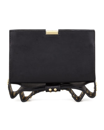 Milla Small Frame Clutch Bag, Black