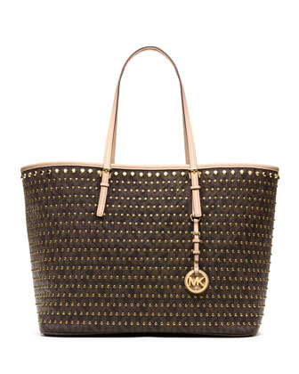 Medium Jet Set Studded Travel Tote