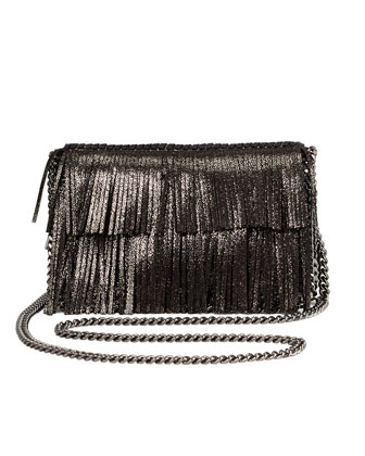 Fallabella Fringe Crossbody Bag, Ruthenium