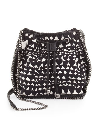 Falabella Printed Crossbody Pouch, Black