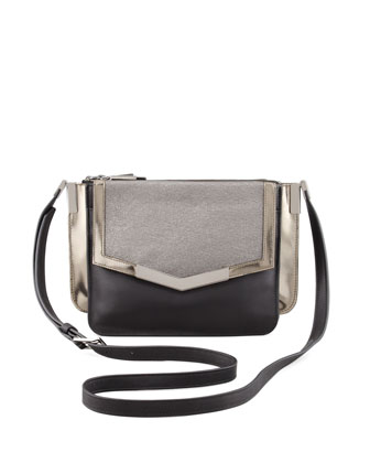 Lamanto Mini Trilogy Leather Crossbody Bag