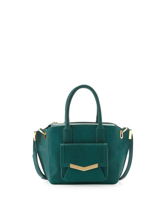 Mini Jo Serpent-Print Tote Bag, Emerald