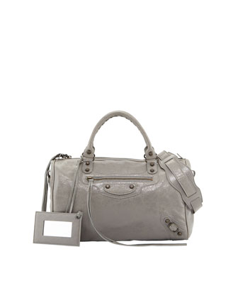 Classic Boston Bag, Medium Gray