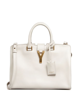 Y-Ligne Cabas Mini Leather Bag, White