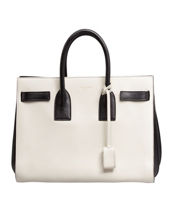 Sac de Jour Small Carryall Bag, White/Black