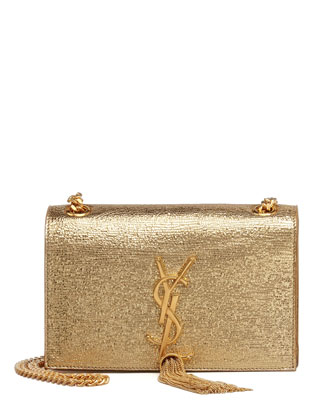 Cassandre Small Tassel Crossbody Bag, Gold