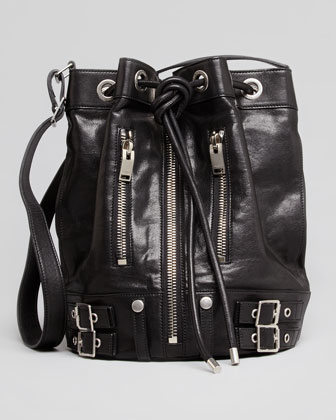 Rider Medium Bucket Bag, Black