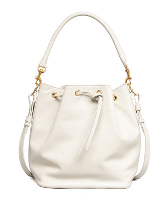 Bucket Shoulder Bag, White