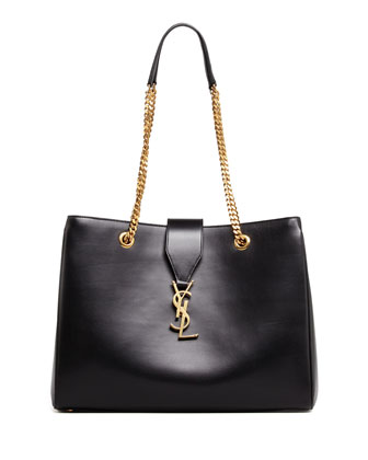 Cassandre Chain-Strap Shopper Bag, Black