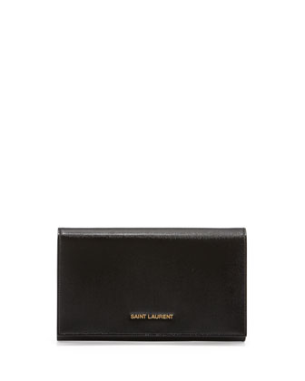 Logo-Lettered Wallet-on-a-Chain, Black