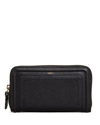 Paraty Long Zip Wallet, Black