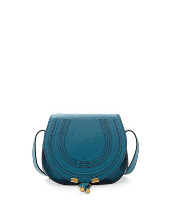 Marcie Small Crossbody Satchel Bag, Blue