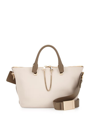 Baylee Medium Shoulder Bag, White/Beige