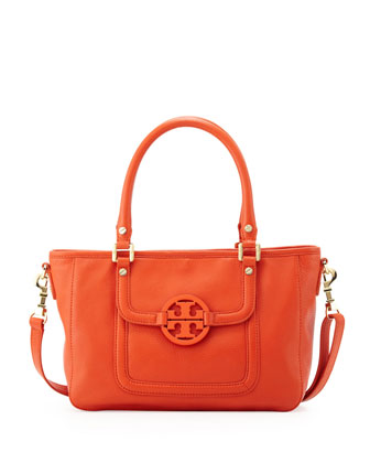Amanda Mini Satchel Bag, Red/Orange