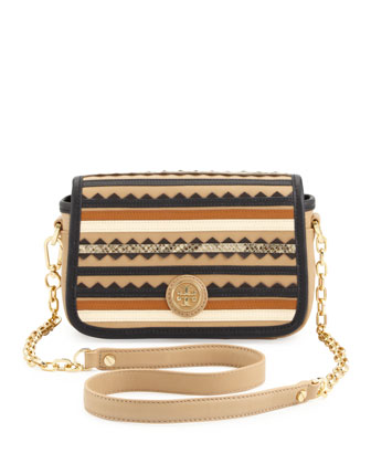 Robinson Zigzag Striped Crossbody Bag
