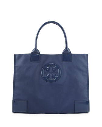 Ella Coated Canvas Tote Bag, Navy