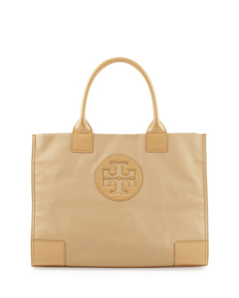Ella Coated Canvas Tote Bag, Camel