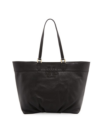 East-West Stacked-T Tote Bag, Black