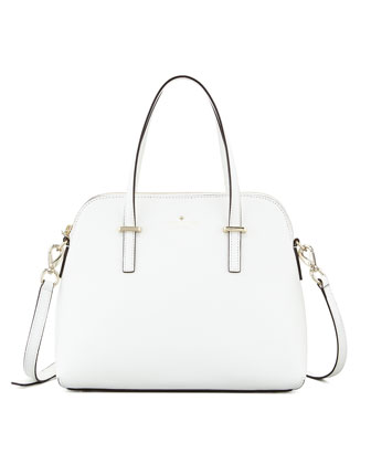 cedar street maise satchel bag, cream