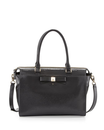 beacon court jeanne satchel bag, shadow gray