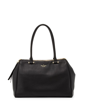 charles street kensington satchel bag, black