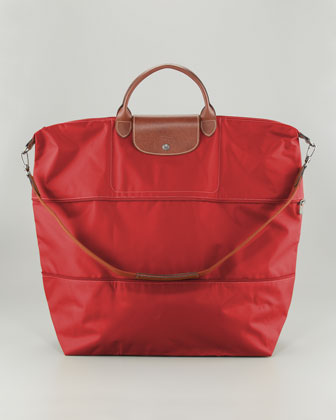 Le Pliage Expandable Travel Bag, Red