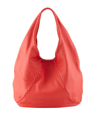 Cervo Large Hobo Bag, Red