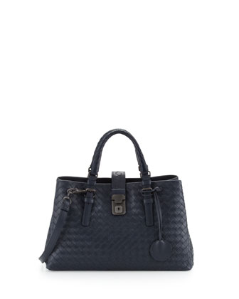 Roma Leggero Small Satchel Bag, Navy