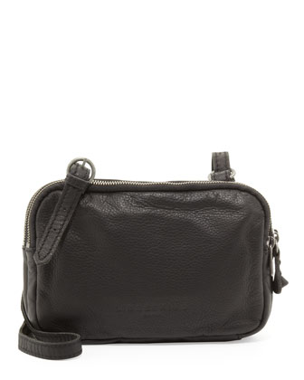 Maike B Leather Crossbody Bag, Black