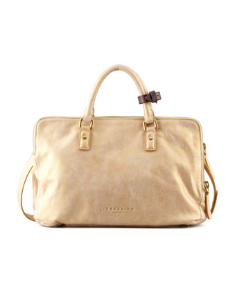Koko Metallic Tote Bag, Gold