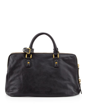 Koko Leather Tote Bag, Black